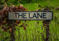 Rural Sign For The Lane Royalty Free Stock Photo
