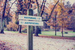 Rural signboard - Artificial - Natural Royalty Free Stock Images