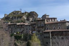 Rural small village of Rupit stock photos