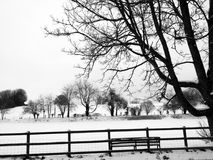 Rural snow scene Royalty Free Stock Photography