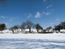 Rural snow scene Stock Image