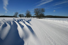 Rural Snowdrift Royalty Free Stock Image
