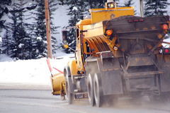 Rural Snowplow Stock Images