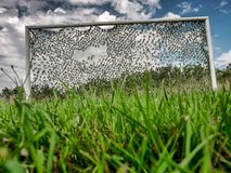 Rural soccer goal Stock Images