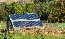 Rural Solar Panels Stock Image