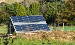 Rural Solar Panels Stock Image