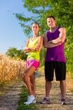 Man and woman running for sport Royalty Free Stock Photos
