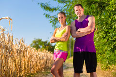 Man and woman running for sport Stock Photography