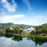 Rural spring scene(China Wuyuan) Royalty Free Stock Photography