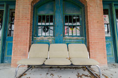 Rural Store Front Seat Royalty Free Stock Images