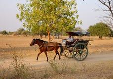 Rural street in Bagan Royalty Free Stock Images