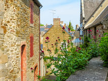 Rural street in Brittany, France Stock Image