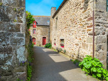Rural street in Brittany, France Royalty Free Stock Photos
