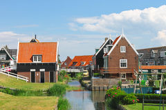 Rural street on the island Marken. Royalty Free Stock Image