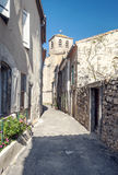 Rural Street in Lagrasse Royalty Free Stock Photos