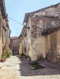 Rural Street in Lerma Stock Photo