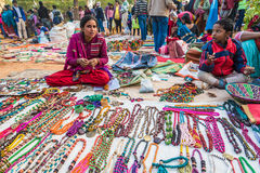Rural street market in India Stock Image