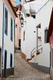 Rural Street Scene. Rural cobbled street scene in Algarve, Portgual Stock Photos