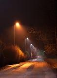 Rural streets at night Royalty Free Stock Photos