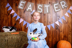 Rural style easter stock photo