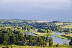 Rural summer landscape, river Stock Photography
