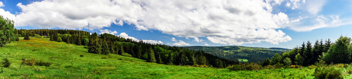 Rural summer time panorama Stock Photography