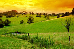 Rural Sunset Stock Photos