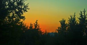 Rural sunset Stock Photos