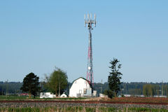 Rural Telecommunications Tower Royalty Free Stock Image
