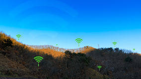 Rural Territory Wireless Connection Concept Illustrated by WIFI Stock Photography