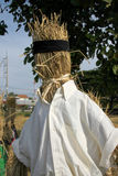 Rural Thai farmer scarecrow Royalty Free Stock Images