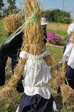Rural Thai farmer scarecrow Royalty Free Stock Photo
