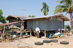 Rural Thai house. Simple Thai farmhouse stock photo
