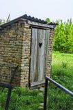 Rural toilet Stock Photo