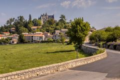 Rural town of Montdardier. In Occitania France royalty free stock photo