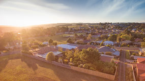 Rural town, South Gippsland. Small town of Leongatha in South Gippsland, Victoria, Australia Royalty Free Stock Photos