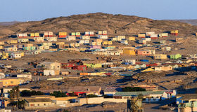 The rural township of Luderitz, Namibia. Lüderitz is a harbour town in southwest Namibia, lying on one of the least hospitable coasts in Africa. It is a port royalty free stock photography