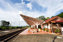 Rural train station at Maemo , thailand Stock Photography