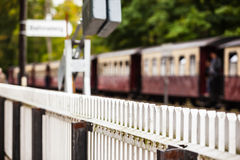 Rural Train Station Platform Background Royalty Free Stock Photo