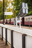Rural Train Station Platform Fence Stock Photo