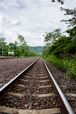 The rural train station in somwhere of Thailand Stock Image