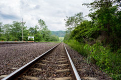 The rural train station in somwhere of Thailand Royalty Free Stock Images