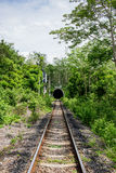 The rural train station in somwhere of Thailand Stock Photos