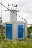 Rural transformer substation Royalty Free Stock Images