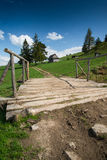 Rural trekking road in polish mointains Royalty Free Stock Image