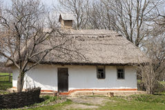 Rural uninhabited Ukrainian house Royalty Free Stock Photography