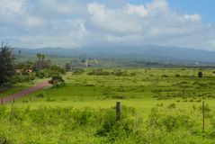 Rural Upland Molokai Vista. View of rural upland Molokai looking West to East royalty free stock image