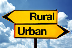 Rural or urban Stock Image