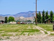 Rural Utah farm Field Stock Photo