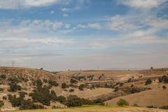 Rural valley near Arcos del Sitio aqueduct Royalty Free Stock Photo